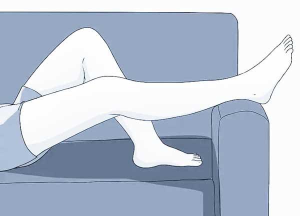 repos jambe surélevée