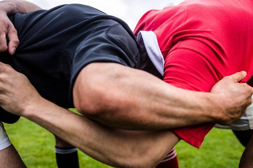 Près d'un tiers des blessures au rugby touchent les membres, essentiellement l'épaule et le genou.